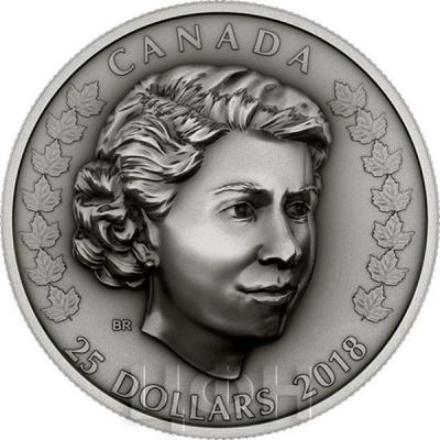 Канада 25 долларов 2018 год «Молодая королева» (реверс).jpg