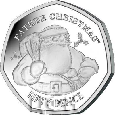 Гибралтар 50 пенсов 2018 год «С рождеством» (реверс).jpg
