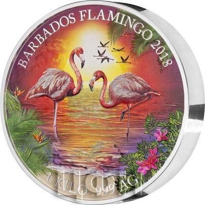 Барбадос 25 долларов 2018 год «Фламинго» (реверс).jpg