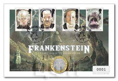 Numisbrief Великобритания «Франкенштейн».jpg