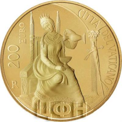 Ватикан 200 € 2018 «Кардинальные достоинства умеренность» (аверс).jpg