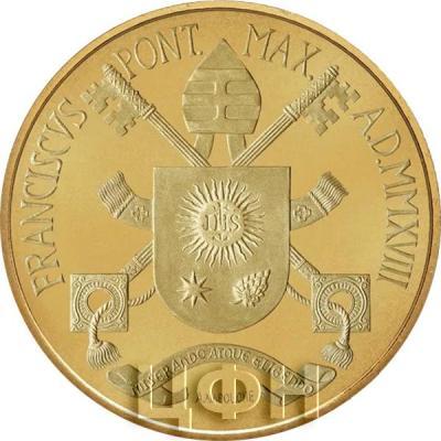 Ватикан 200 € 2018 «Кардинальные достоинства умеренность» (реверс).jpg