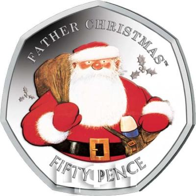Гибралтар 50 пенсов 2018 год «FATHER CHRISTMAS» (реверс).jpg