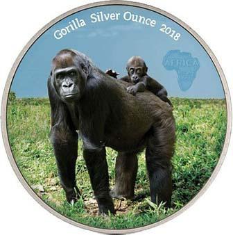 1. Конго 1000 франков 2018 Горилла.jpg