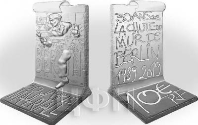 Франция 10 евро 2019 «30 годовщина падения Берлинской стены».jpg