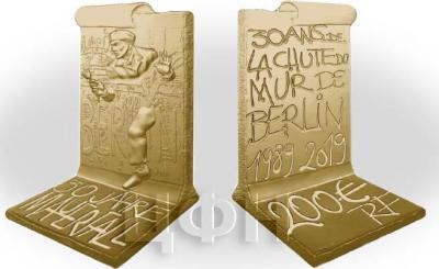 Франция 200 евро 2019 «30 годовщина падения Берлинской стены».jpg