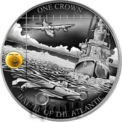 Тристан-да-Кунья 1 крона 2018 год «Битва за Атлантику» (реверс).jpg