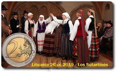 Литва 2 евро 2019 - Сутарти́нес  (реверс).jpg