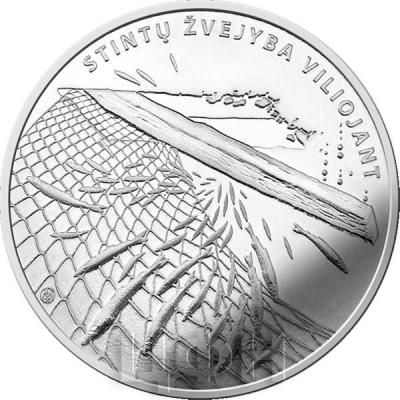 Литва 1.5 евро 2019 - Ловля Корюшки (реверс).jpg