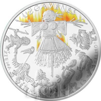 2. Литва 2019 год 5 евро - Масленица (реверс).jpg