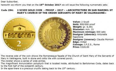 2017, 2 скуди Сан-Марино, памятная монета - «Церковь Пресвятой Девы Марии в Валдрагоне».jpg
