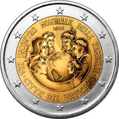 2015, 2 евро Ватикан, памятная монета - «VIII Всемирная встреча семей в Филадельфии».jpg