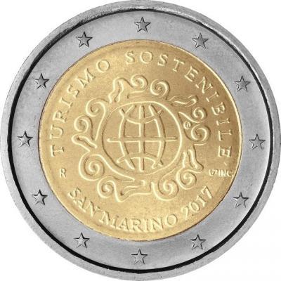 2017, 2 евро Сан Марино, памятная монета - «Международный год устойчивого туризма в интересах развития».jpg