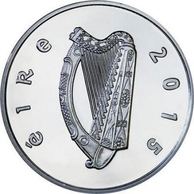 2015, 15 евро Ирландия, памятная монета - «150 лет со дня рождения Уильяма Батлера Йейтса» (аверс).jpg