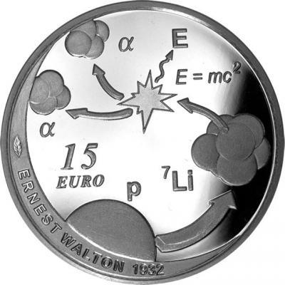 2015, 15 евро Ирландия, памятная монета - «Эрнест Уолтон» (реверс).jpg