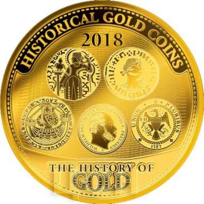 1 Соломоновы острова 10 долларов 2018 год «HISTORICAL GOLD COINS» (реверс).jpg