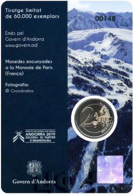 2019, 2 евро Андорра, памятная монета - «Финал кубка мира по горнолыжному спорту 2018-2019» (аверс).jpg