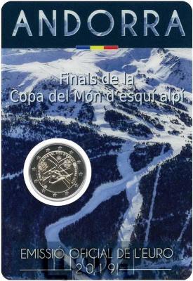 2019, 2 евро Андорра, памятная монета - «Финал кубка мира по горнолыжному спорту 2018-2019» (реверс).jpg