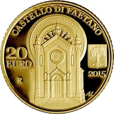 2015, 20 евро Сан-Марино, памятная монета - «CASTELLO DI FAETANO», серия «Архитектурные элементы Сан-Марино» (реверс).jpg