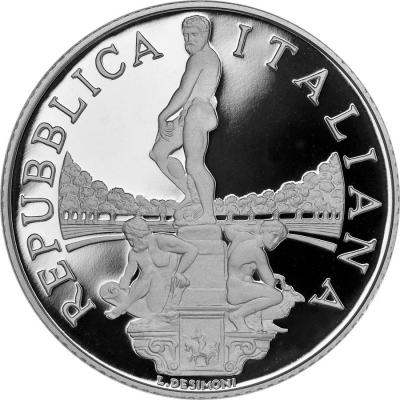 2015, 5 евро Италия, памятная монета - «Сады Боболи» (аверс).jpg
