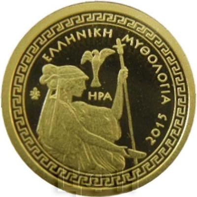 2015, 100 евро Греция, памятная монета - «Гера», серия «Греческая мифология - Олимпийские Боги» (реверс).jpg