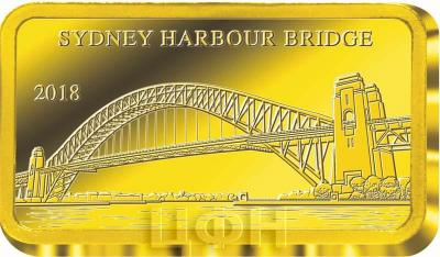 Фиджи 5 долларов 2018 год «SYDNEY HARBOUR BRIDGE» (реверс).jpg
