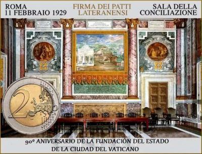 Ватикан 2 € 2019 «90 лет Ватикану».jpg