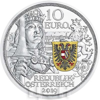 2019, 10 евро Австрия, памятная монета - «Максимилиан I», серия История рыцаря (аверс).jpg