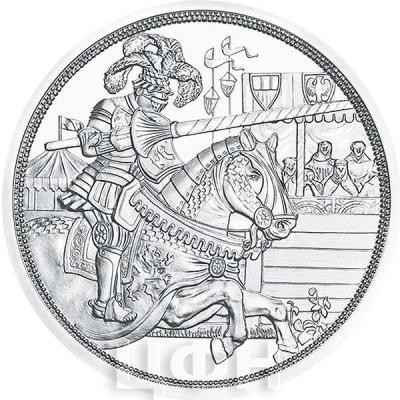 2019, 10 евро Австрия, памятная монета - «Максимилиан I», серия История рыцаря (реверс).jpg