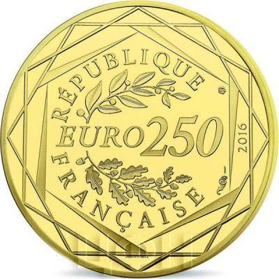 2016 год, серия памятных монет Франция - «Маленький принц» (аверс).jpg