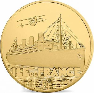 2016 год, 10 и 50 евро Франция, памятные монеты - «ILE DE FRANCE», серия «Великие корабли Франции» (аверс).jpg