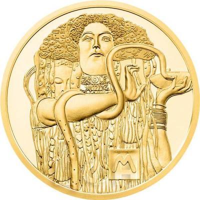 2015, 50 евро Австрия, памятная монета - «Климт. Медицина» (реверс).jpg