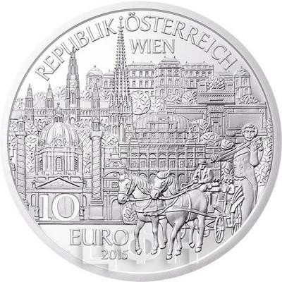 2015, 10 евро Австрия, памятная монета - «Вена» (аверс).jpg