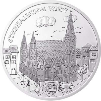 2015, 10 евро Австрия, памятная монета - «Вена» (реверс).jpg