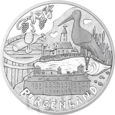 2015, 100 евро Австрия, памятная монета - «Бургенланд», серия «Федеральные земли Австрии» (реверс).jpg