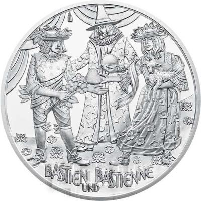 2015, 20 евро Австрия, памятная монета «Вольфган- вундеркинд», серия «Моцарт» (реверс).jpg