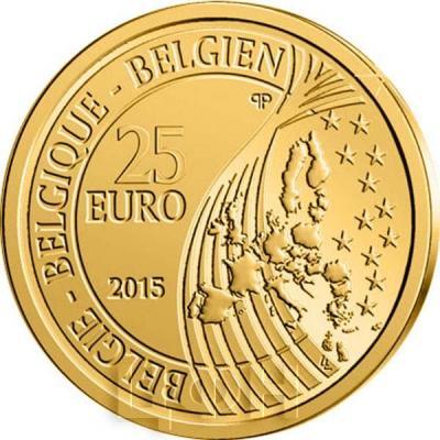2015. 25 евро Бельгия, памятная монета - «Карл V» (аверс).jpg