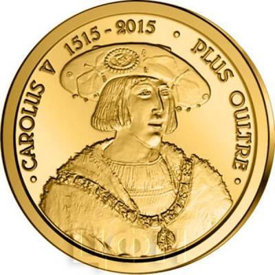 2015. 25 евро Бельгия, памятная монета - «Карл V» (реверс).jpg