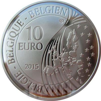 2015, 10 евро Бельгия, памятная монета - «200-летие Битвы при Ватерлоо» (аверс).jpg