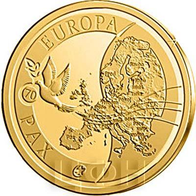2015, 50 евро Бельгия, памятная монета - «70 лет мира в Европе» (реверс).jpg