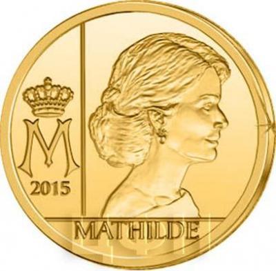2015 год, 12.5 евро Бельгия, памятная монета - «Королева Матильда», серия «Династия королевы» (реверс).jpg