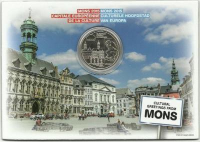 2015, 5 евро Бельгия, памятная монета - «Монс — Культурная столица Европы» (реверс).jpg