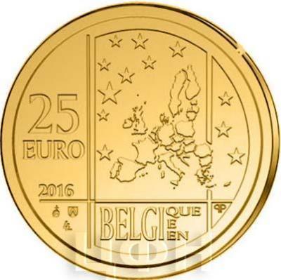 2016, 25 евро Бельгия, памятная монета «175-летие Королевскому нумизматическому обществуБельгии» (аверс).jpg