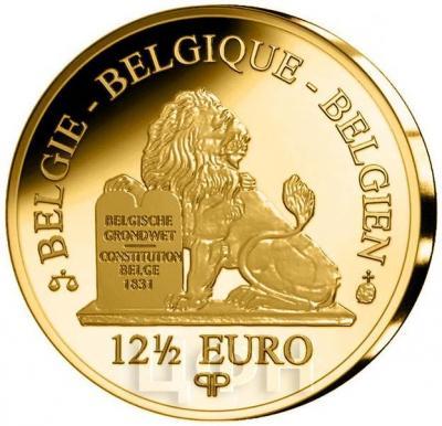 2016 год, 12 ½ евро Бельгия, серия «Династия бельгийские королевы» (аверс).jpg