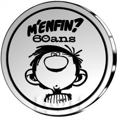 2017, 5 евро Бельгия, памятная монета - «60 лет комиксу - Гастон» (реверс).jpg