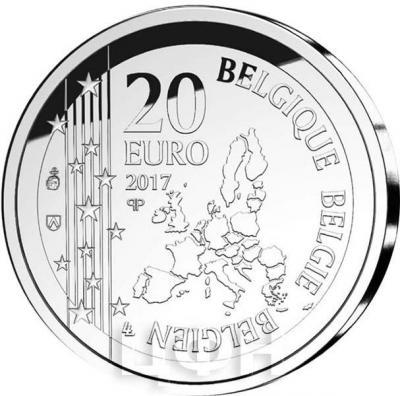 2017, 20 евро Бельгия, памятная монета - «200 лет со дня рождения Жозефа Пуларта» (аверс).jpg