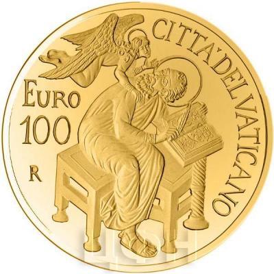2015, 100 евро Ватикан, памятная монета - «Матфей», серия«Евангелисты» (аверс).jpg