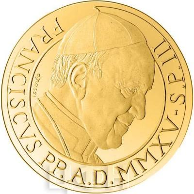 2015, 100 евро Ватикан, памятная монета - «Матфей», серия«Евангелисты» (реверс).jpg