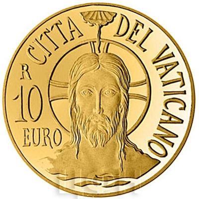 2015, 10 евро Ватикан, памятная монета - «Крещение» (аверс).jpg