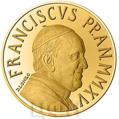 2015, 10 евро Ватикан, памятная монета - «Крещение» (реверс).jpg